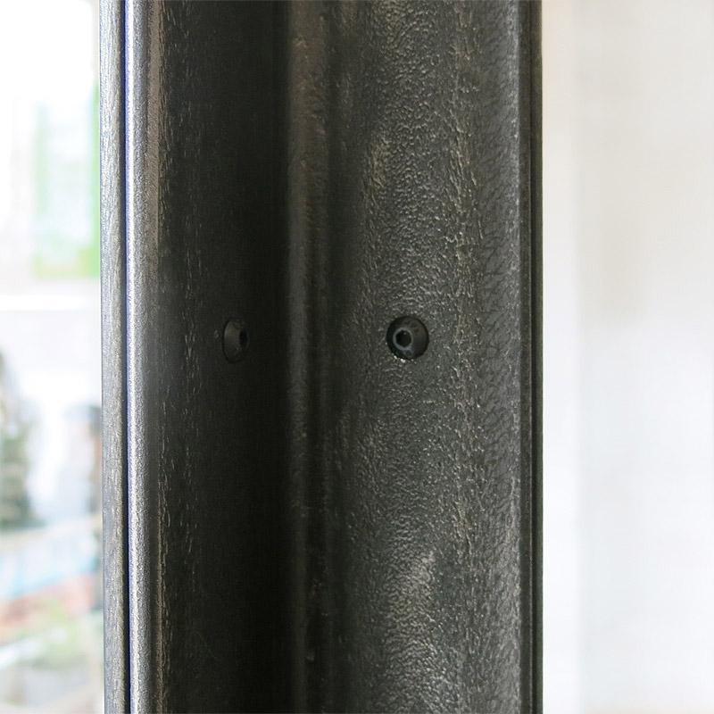 Walzhaut Stahl schwarz, gebürstet und versiegelt