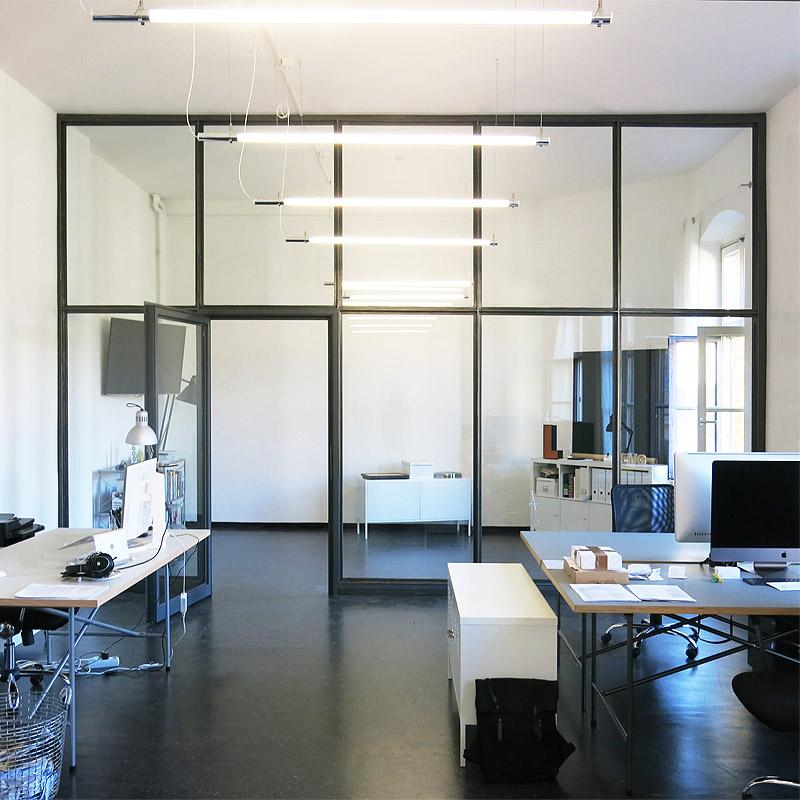 Abtrennung Besprechungsraum vom Großraumbüro