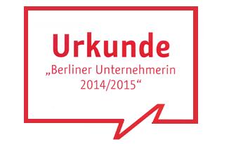Unternehmerin des Jahres 2014/2015
