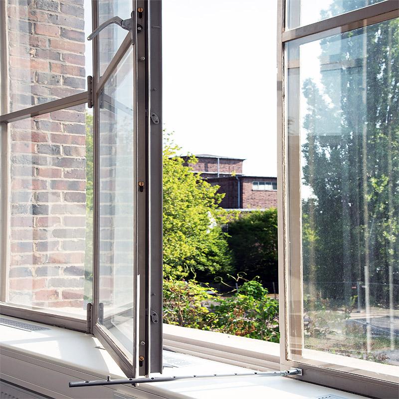 Ertüchtigung der Verbundfenster, fertiger Zustand geöffnet