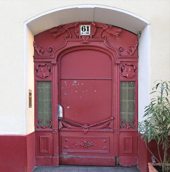 Restaurierung Eingangstüranlage vorher