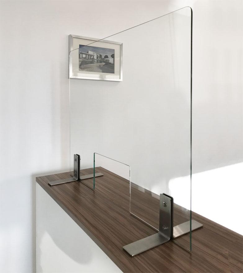 Hygiene-Schutzwand für Kassenbereich