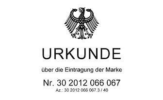 DPMA Urkunde über die Eintragung der Marke RIXDORFER SCHMIEDE